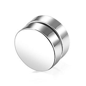Khuyên tai nam châm/ bông tai nam nữ không cần bấm lỗ (1 chiếc) màu bạc