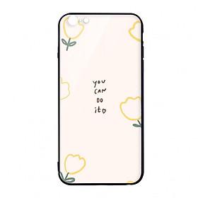 Ốp lưng CƯỜNG LỰC VIỀN ĐEN cho iPhone 6 YOU CAN DO IT - Hàng chính hãng