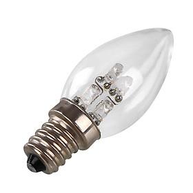 Đèn Ngủ Bóng LED E12 Hình Ngọn Nến (DC 220V) (80LM) (0.5W)