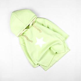 Áo Hoodie xanh lá in hình form lớn 18 đến 36 kg Quảng Châu cho bé gái 04072-04073(2)