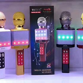 Micro Karaoke Wster-1828 Kèm Loa Hát + Đèn Led - Hàng chính hãng