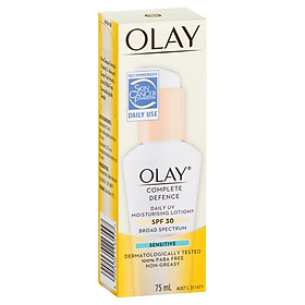 Olay Complete Defence Daily UV Moisturising Lotion Sensitive SPF 30 75mL
