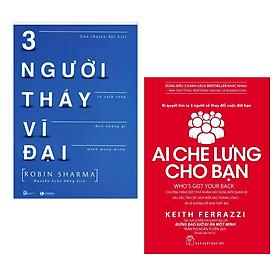 Combo 2 Cuốn Sách Kinh Tế Hay Nhất: Ai Che Lưng Cho Bạn + Ba Người Thầy Vĩ Đại ( Tặng kèm PostCard GreenLife))
