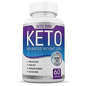 Keto Pills - for Women & Men - Ketogenic Carb Blocker & Fat Burner - Weight Loss Supplement - Keto Tank