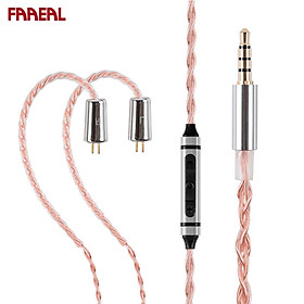 FAAEAL Upgrade Earphone Cable 0.78mm/2Pin Connector Headphone Wire With 3 Key Mic 4 Core OFC For FAAEAL Hibiscus/BLON BL03/05/TRN