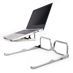 Stand/ Giá đỡ nhôm kê Macbook, Laptop, iPad, Tablet gập gọn kiểu mắt kính Lucas - Hàng Chính Hãng
