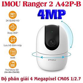 Camera wifi gia đình IMOU Ranger 2 A42P-B 4MP chính hãng xoay 360 độ , đàm thoại hai chiều , nhận thông báo khi phát hiện chuyển động và tiếng động lạ - Hàng Chính Hãng
