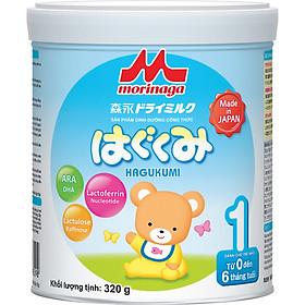 Combo Sữa Morinaga Số 1 Hagukumi (320g) và thú bông hươu cao cổ