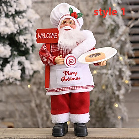 Santa Claus Doll Standing / Sitting Doll Christmas Ornament for Home Xmas Table Decor