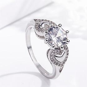 Nhẫn đính hôn Sapphire 2 Carat Mạ vàng 14K QYP0020
