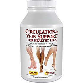 Andrew Lessman Circulation Vein Support for Healthy Legs 60 Capsules – High Bioactivity Diosmin Natural Oxidants Butcher's Broom Visibly Reduces Swelling & Discomfort in Feet, Ankles, Calves & Legs