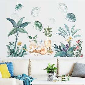 Decal dán tường tự dính - Vườn hoa xuân