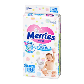 Bỉm/Tã dán Merries bịch đại size L54 miếng