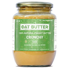 Bơ Đậu Phộng Nguyên Chất Có Hạt Đạt Butter (500g)