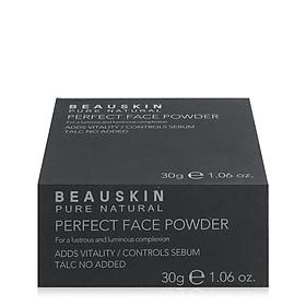 Phấn phủ bột Beauskin Perfect Face Powder Hàn Quốc 30g #21 Natural Beige tặng kèm móc khoá-2