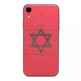 Ốp dán da cho iPhone XR - Da thật nhập khẩu cao cấp - Davis (Đỏ)