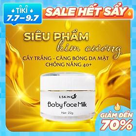 Kem Cấy Trắng Baby Face Milk - Lskin - MP0000006 - Xóa Tan Thâm Nám, Tái Tạo Và Trẻ Hóa Làn Da