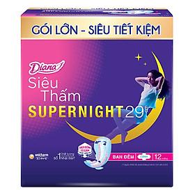 Băng Vệ Sinh Diana Siêu Thấm Supernight 29Cm(12)-1902