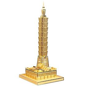 Mô hình lắp ráp kim loại Piececool P011-G - Trung tâm Tài chính Thế giới, Teipei 101, Đài Bắc
