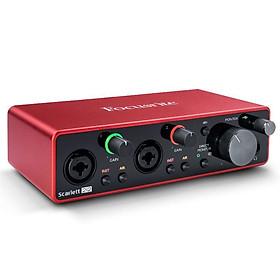 Sound Card thu âm Focusrite Scarlett 2i2 (3rd Gen) sound card thu âm 2 cổng mic thế hệ thứ 3 - Hàng chính hãng