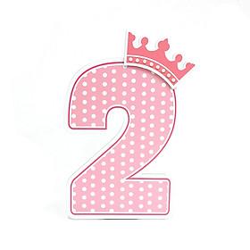 Số Tuổi Trang Trí Sinh Nhật Công Chúa Happy Kibu- 2 Tuổi