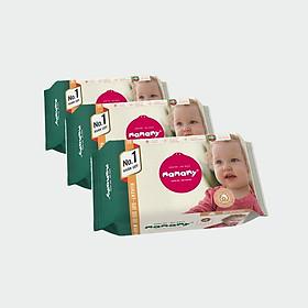 Combo 3 gói khăn ướt Mamamy 80 tờ/gói bổ sung (không nắp) ngừa hăm, kháng khuẩn an toàn cho bé