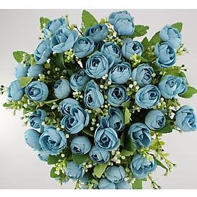 Bộ 50 Hoa Hồng Nhiều màu Giả Hoa giả để bàn Hoa giả trang trí MeeFlower