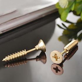 Bông tai nam inox thời trang kiểu tu vít trangsucpt màu mạ vàng trangsucpt thép không gỉ PTLTNA127
