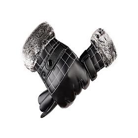 Bao tay găng tay nam da cao cấp CẢM ỨNG Smartphone lót lông giữ ấm mùa đông GTNMM01