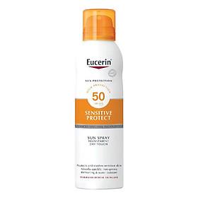 Eucerin Xịt Chống Nắng Toàn Thân Sun Spray Transparent Dry Touch Sensitive Protect SPF 50 200ml