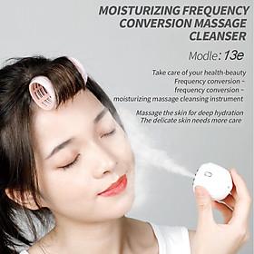 2 in 1 Electric Silicone Facial Brush Mini Mist Spray Facial Humidifier Moisturizing Face Sonic Vibration Deep Pore