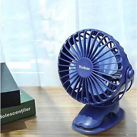 Quạt sạc mini xoay góc 720 độ, đế kẹp đa năng hoặc đặt bàn, với 4 nấc điều chỉnh gió YOOBAO F04 3200MAH Hàng Chính Hãng