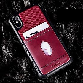 Ốp lưng cho iPhone Xs Max hiệu NUOKU Leopard Card - Hàng nhập khẩu