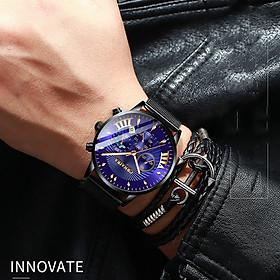 Đồng Hồ Nam Cranira C8829 mặt đồng hồ tròn, LỊCH NGÀY thiết kế đẹp mắt, sáng bóng với tính năng hiện đại cho phái mạnh tự tin, mạng mẽ và thời trang Dây MÀNH không gỉ thiết kế ôm tay