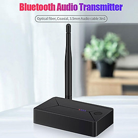 Tx13 Bluetooth 5.0 Audio Transmitter 3.5mm AUX Jack Coaxial Fiber Optic Wireless Adapter