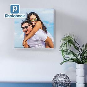 "Photobook - In tranh canvas vải 8"" x 8"" (20 x 20cm) theo yêu cầu"