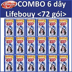 COMBO 6 dây Dầu gọi  Lifebuoy Tóc dày óng ả 12 gói x6