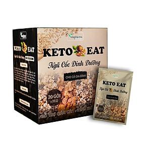 Hộp ngũ cốc dinh dướng KETO EAT 20 gói ( 25g/gói )