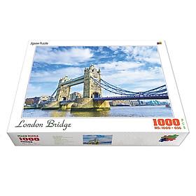 Bộ tranh xếp hình cao cấp 1000 mảnh 50x80cm – London Bridge