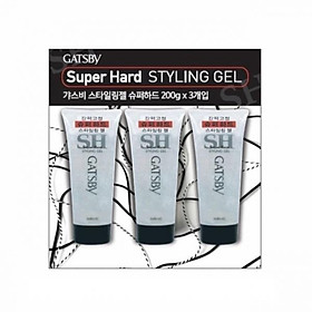 GATSBY Styling Gel Super Hard 200g x 3P