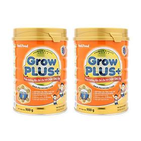 Combo 2 hộp Sữa bột NutiFood Grow Plus+ cam 900g - cho trẻ chậm tăng cân