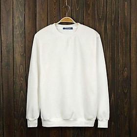 Áo Sweater Nam Nữ | Nỉ Bông Trắng  Trơn Thời Trang Cao Cấp