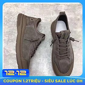 Giày nam cao cấp da bò – giày nam buộc dây da lộn đế cao su đúc mẫu mới nhất Hot trend 2021 GN429