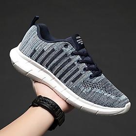 Giày Sneaker, giày thể thao big size cỡ lớn cho nam chân to làm bằng chất liệu co giãn thoáng khí - TT110