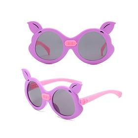 Kính râm trẻ em hình heo, chống tia cực tím phong cách Hàn Quốc, chọn màu theo ý + Tặng kèm hộp đựng kính- Mắt kính râm cho bé trai và bé gái