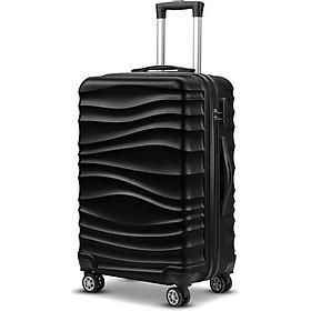 Vali du lịch họa tiết dập gợn sóng mẫu mới - Vali xách tay thời trang cao cấp 20 inch - Chất Liệu Nhựa ABS + PC Nhẹ Và Đàn Hồi - Khoá Hải Quan TSA An Toàn