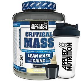 Sữa tăng cân tăng cơ Critical Mass vị vani Applied Nutrition 2,4kg và bình lắc