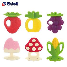 Gặm Nướu Silicon Richell Có Hộp Với Nhiều Hình Trái Cây Siêu Cute Cho Bé( Giao Ngẫu Nhiên Mẫu)- Tặng kèm 2 túi trữ sữa Unimom 210ml