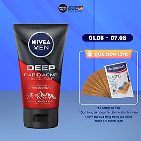 Sữa rửa mặt Ngừa mụn Sạch sâu NIVEA MEN Himalaya Deep Rapid Acne Oil Clear (100g) - 88521