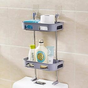Kệ nhà tắm, kệ trên toilet 2 tầng đa năng - giao màu ngẫu nhiên